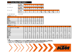 KTM Power Wear SIZE CHART>>