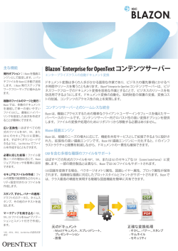 Blazon® Enterprise for OpenText コンテンツサーバー