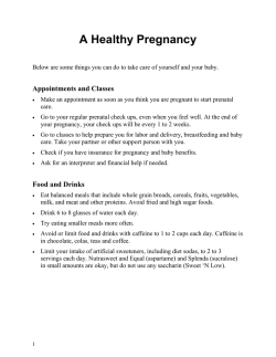 A Healthy Pregnancy - Health Information Translations
