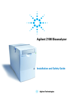 Turning on the Agilent 2100 Bioanalyzer