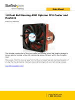 1U Dual Ball Bearing AMD Opteron CPU Cooler and
