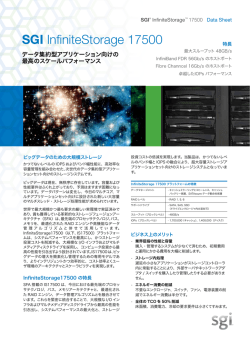 SGI® InfiniteStorage™ 17500 Data Sheet