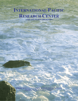 Annual Report 2006 - International Pacific Research Center