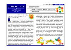 Global Talk 2013Mar. What is Easter all about?