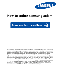 How to tether samsung axiom