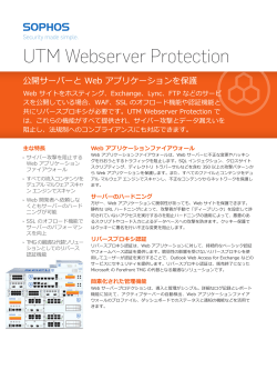 UTM Webserver Protection