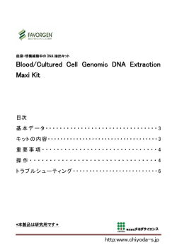 Blood/Cultured Cell Genomic DNA Extraction Maxi