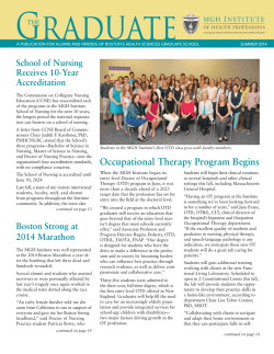 Occupational Therapy Program Begins