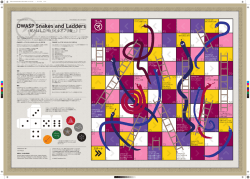 OWASP Snakes and Ladders
