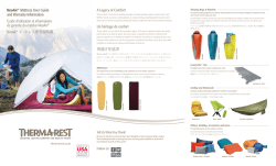 A Legacy of Comfort NeoAir® Mattress User Guide and Warranty