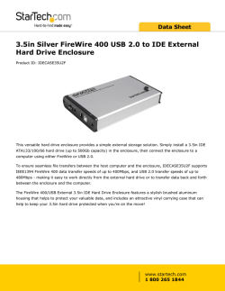 3.5in Silver FireWire 400 USB 2.0 to IDE External