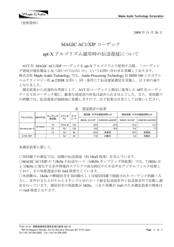 伝送遅延について - Maple Audio Technology Corporation