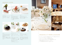 WEDDING AT PIERRE GAGNAIRE - ANA InterContinental Tokyo
