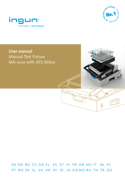 User manual Manual Test Fixture MA xxxx with ATS MAxx