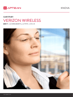 導入事例 : VERIZON WIRELESS