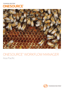 ONESOURCE® WORKFLOW MANAGER