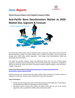 Asia-Pacific Bone Densitometers Market to 2020 Market Size, Segment & Forecast