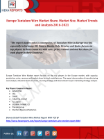 Europe Tantalum Wire Market Share, Market Size, Market Trends and Analysis 2016-2021