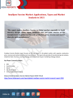 Smallpox Vaccine Market Applications, Types and Market Analysis to 2021