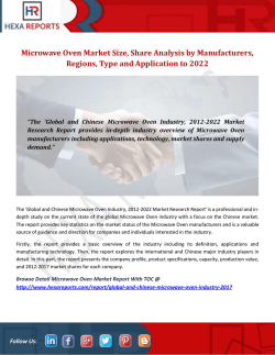 Microwave Oven Market Size, Share Analysis by Manufacturers, Regions, Type and Application to 2022