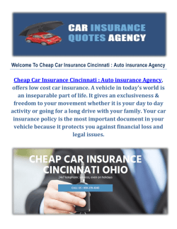 Auto insurance Agency - Cheap Car Insurance in Cincinnati, OH