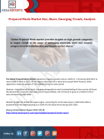 Prepared Meals Market Size, Share, Emerging Trends, Analysis
