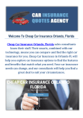 Cheap Car Insurance in Orlando, FL