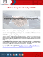 CaM Kinase Therapeutics Industry Report H2 2016