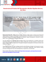 Nonstructural Protein 4B Therapeutics Market Pipeline Review, H2 2016