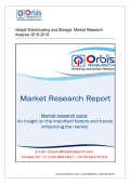Global Warehousing and Storage Market Research Analysis 2015-2019