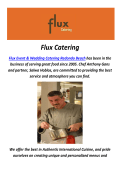 Flux Event & Wedding Catering in Redondo Beach, CA