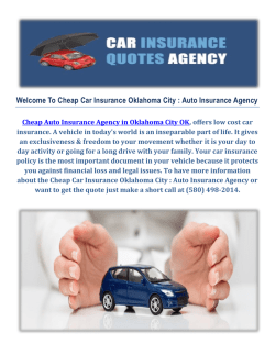 Cheap Car Insurance in Oklahoma City - Auto Insurance Agency