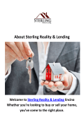 Sterling Reality & Lending Real Estate Agent in Encino, CA