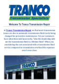Tranco Transmission Repair Shops Albuquerque