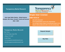 Solar Ingot Wafer Market - Global Industry Analysis, Size, Share, Growth, Trends and Forecast 2016 - 2024