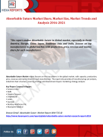 Absorbable Suture Market Share, Market Size, Market Trends and Analysis 2016-2021