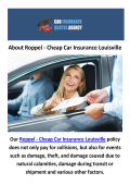 Roppel - Cheap Car Insurance in Louisville Kentucky