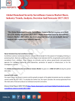 Homeland Security Surveillance Camera Market Analysis, Insights And Forecasts 2017-2021: Hexa Reports