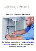 Any Plumber in Charlotte, NC