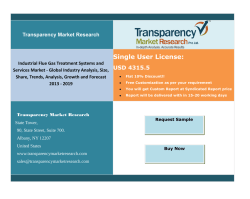 Industrial Flue Gas Treatment Systems and Services Market Segment Forecasts up to 2019, Research Reports- TransparencyMarketResearch