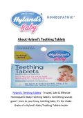 Hyland's Teething Tablets : Hylands Teething Tablets