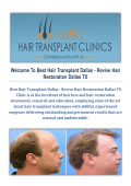 Best Hair Transplant Dallas - Revive Hair Restoration in Dallas