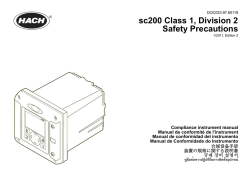 sc200 Class 1, Division 2 Safety Precautions