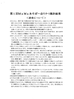 Page 1 第1回Ma Maあそぼ〜会アツケート集計結果 <給食について