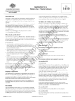 Form 1419 - Application for a Visitor visa