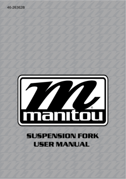 SUSPENSION FORK USER MANUAL