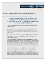 Partial Amendment to Act on Stabilization of Employment of Elderly