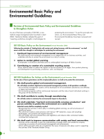 Environmental Basic Policy and Environmental Guidelines