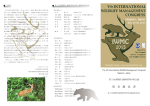 募 金 趣 意 書 - Vth International Wildlife Management Congress 2015