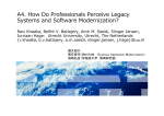 How Do Professionals Perceive Legacy Systems and